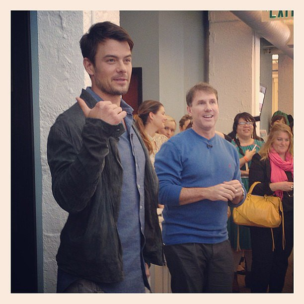 Josh Duhamel and Nicholas Sparks popped in for a visit at our San Francisco office back in January.