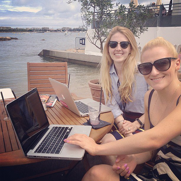 Don't mind us — we're just getting creative with our mobile office in Cannes.