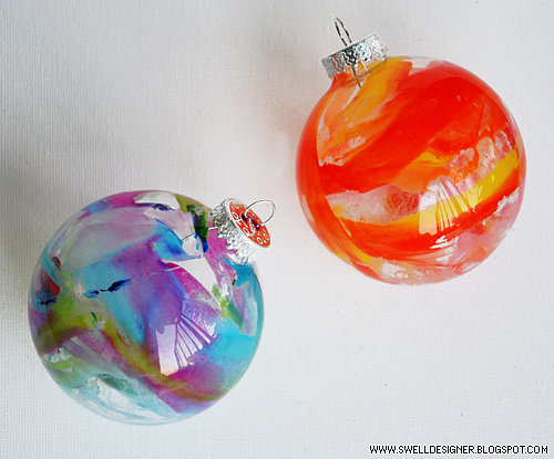 Melted-Crayon Ornaments