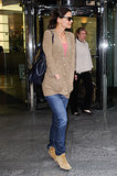 We love the way her neutral Isabel Marant boots play with the same tones in Katie's sweater, creating a standout casual style in April 2012.