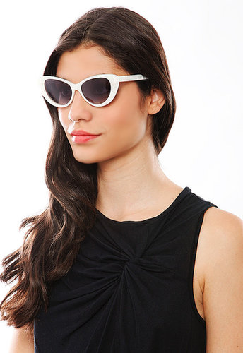 Elizabeth and James Sunglasses Elizabeth and James Benedict Sunglasses in White Mother of Pearl