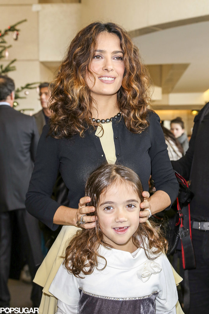 Salma Hayek and her daughter, Valentina, bonded at an event in Paris on Sunday.
