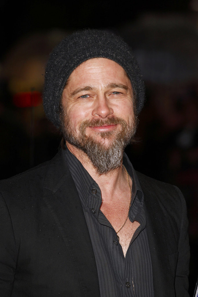 Brad Pitt rocked a mountain man look at the UK premiere of Kick-Ass in March 2010.