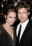 Brad Pitt attended the NYC premiere of The Good Shepherd with Angelina Jolie in December 2006.