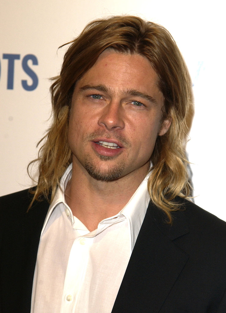 Yowza! Brad Pitt's hair was the stuff of legends during a Beverly Hills charity event in April 2003.