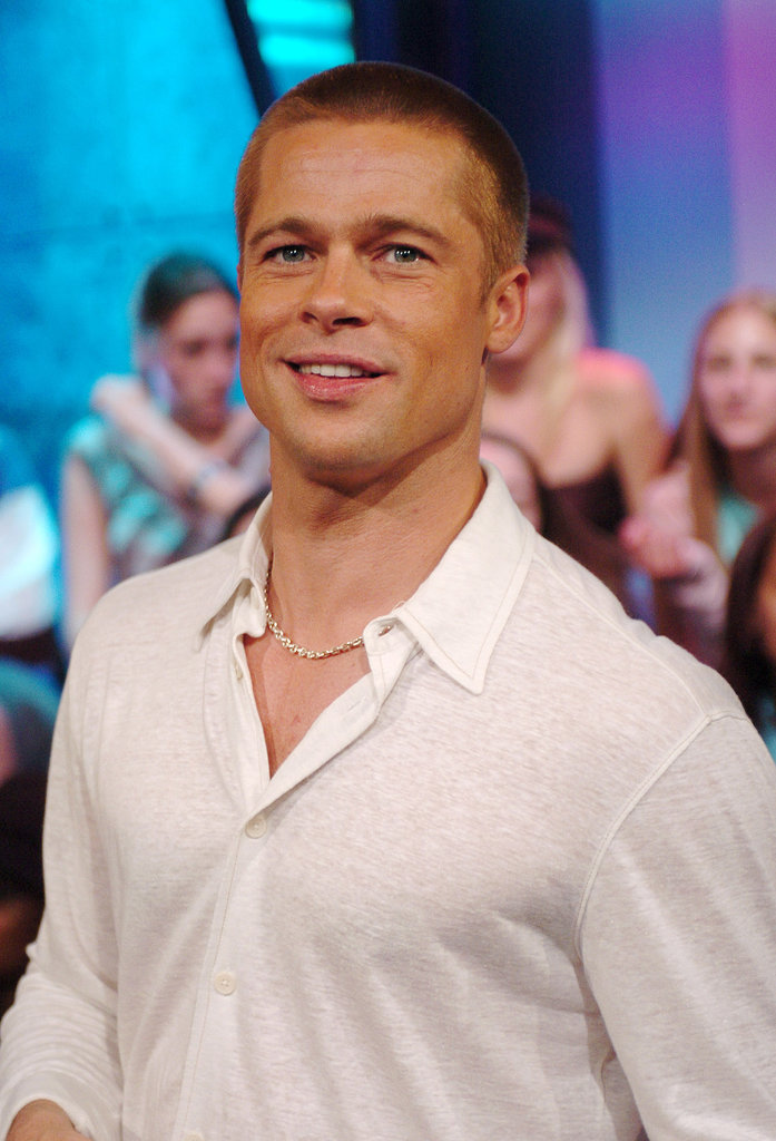 Brad Pitt basically looked like a work of art during a May 2004 stop at TRL in NYC.