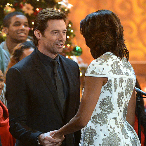 Hugh Jackman and President Obama Filming Christmas Special