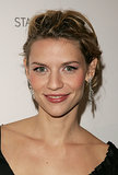 Claire opted for a seriously piecy updo at the 2004 premiere of Stage Beauty. Her frosted white eye shadow and nude lip gloss were very on-trend at the time.