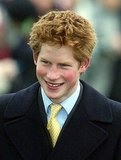 Prince Harry was all smiles on Christmas Day in 2002.