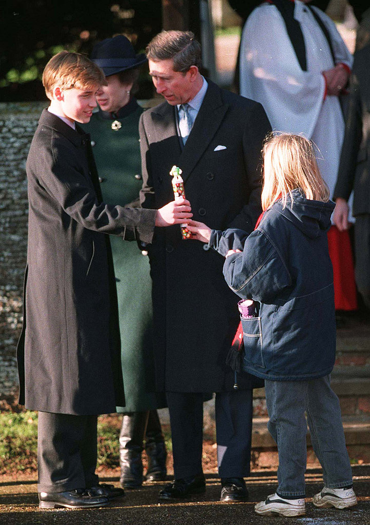 Prince William received a gift from a little girl when he attended the church service in 1995.