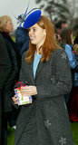 Princess Beatrice attended a Christmas Day service at a Sandringham church in 2002.
