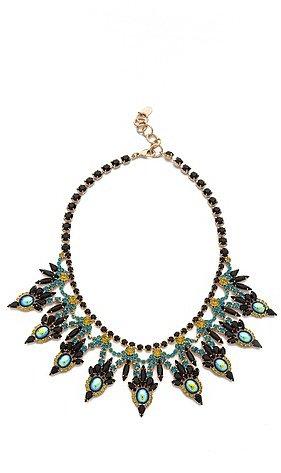 Elizabeth cole Large Crystal Bib Necklace