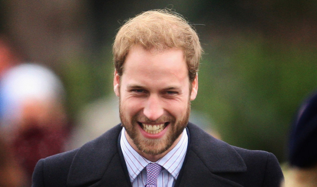 Prince William cracked up on Christmas Day 2008.
