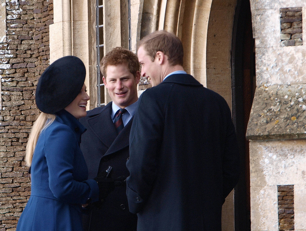 Prince William and Prince Harry chatted with their cousin Zara Phillips on Christmas Day 2009.