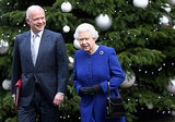 Queen Elizabeth II walked by a pretty Christmas tree ahead of the holidays in London in 2012.