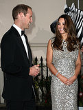 Will and Kate beamed with happiness on their first official night out after Prince George's birth.
