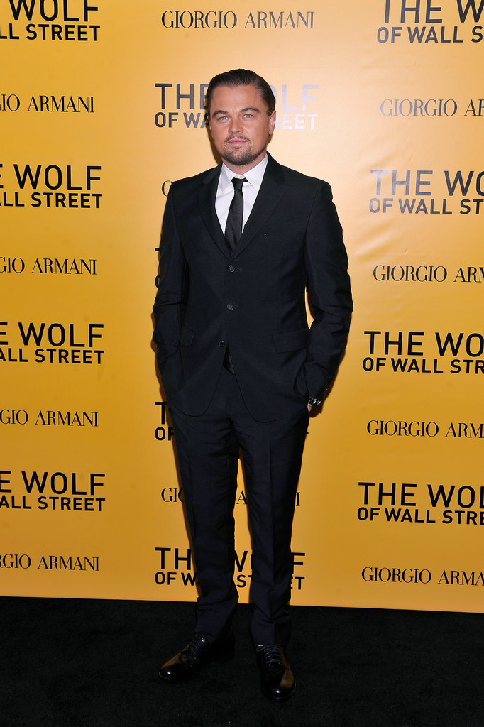 Leonardo DiCaprio looked handsome at the NYC premiere of The Wolf of Wall Street on Tuesday.