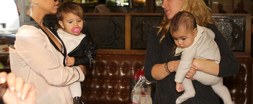 Adorable North West Lunches With the Kardashian Ladies
