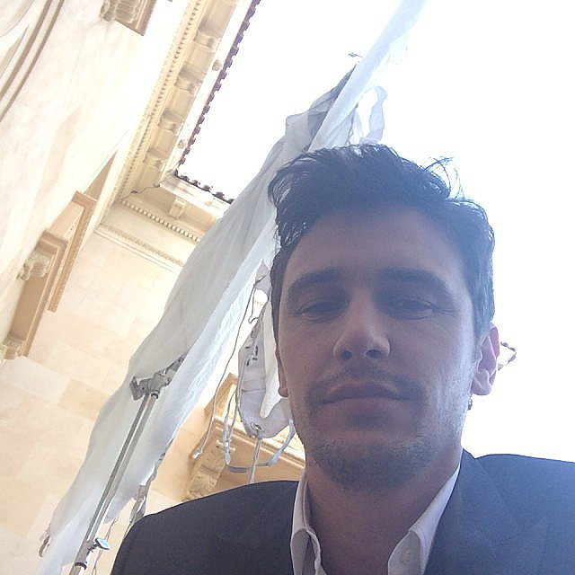 James Franco snapped an on-set selfie. Source: Instagram user jamesfrancotv