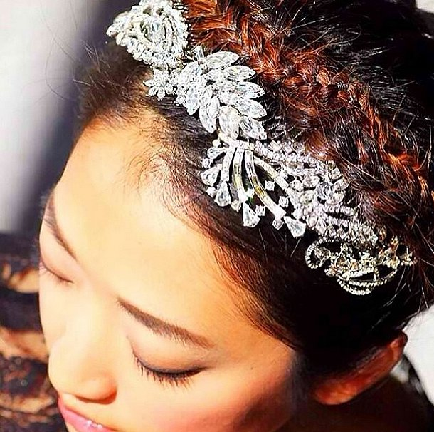 This braid-and-crown combo would make the perfect New Year's updo. Source: Instagram user bumbleandbumble