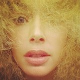 We barely recognized Doutzen Kroes behind all of her wild and curly hair! Source: Instagram user doutzen