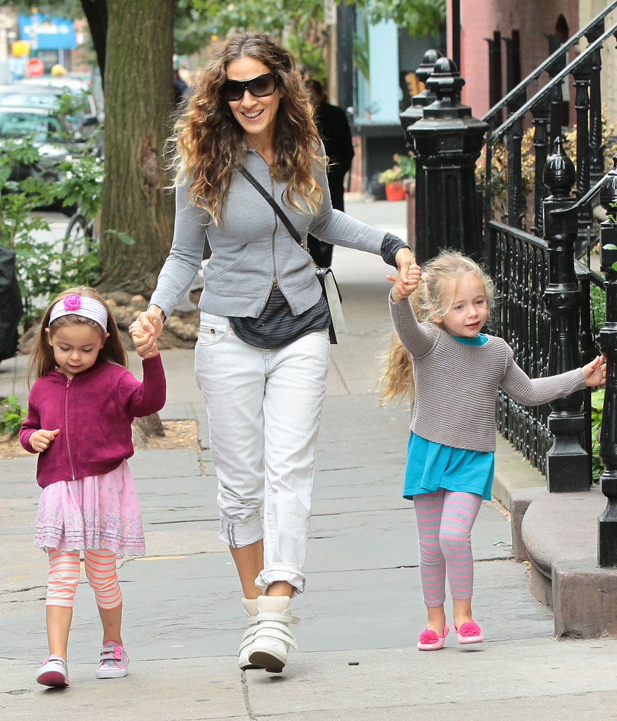 Sarah Jessica Parker held hands with Tabitha and Loretta during an October stroll in NYC.