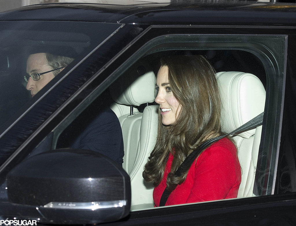 Kate Middleton and Prince William prepared for their pre-Christmas lunch.