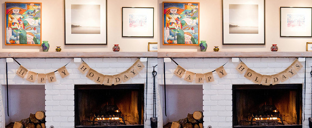 DIY Decoration: Chic Holiday Burlap Bunting