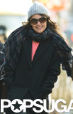 Birthday girl Katie Holmes smiled while out and about in NYC on Wednesday.