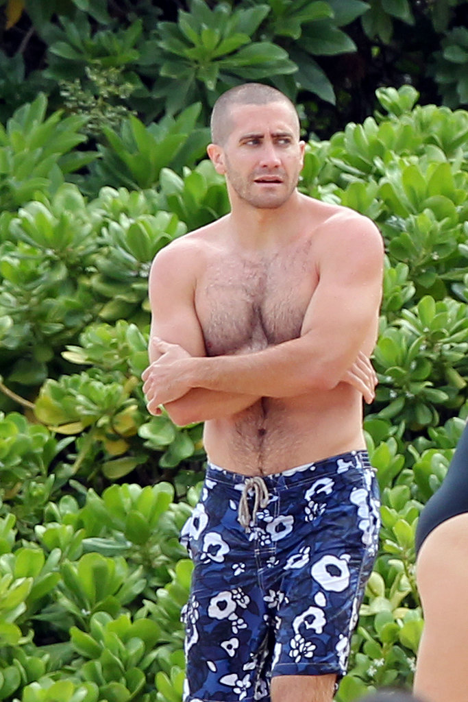 Jake put his buff body on display during a July 2011 vacation in Hawaii.