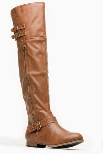 Wild Diva Knee Length Tosca Boot @ Cicihot Boots Catalog:women's winter boots,leather thigh high boots,black platform knee high