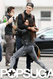 In December 2013, Vanessa Hudgens got silly while taking a selfie with boyfriend Austin Butler in Venice Beach, CA.