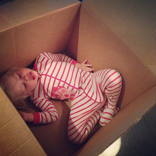 Harper Burtka-Harris looked ready to be shipped off for the holidays. Source: Instagram user instagranph