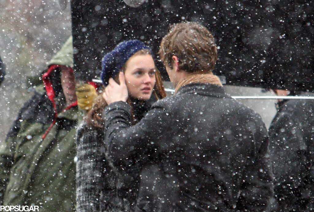 Leighton Meester and Chace Crawford filmed a 2009 episode of Gossip Girl in a snowstorm.
