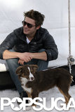 Zac Efron had furry friends to keep him warm in Aspen in 2009.