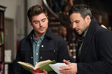 Zac Efron takes notes from director Tom Gormican.