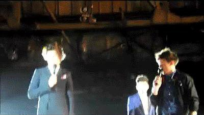 Harry Styles Gets Hit With a Shoe