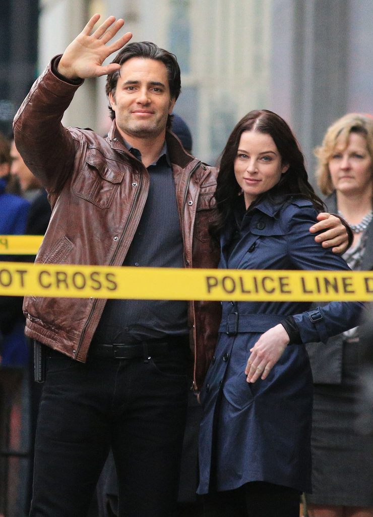 Rachel Nichols and Victor Webster filmed scenes on the set of Continuum in Vancouver on Sunday.