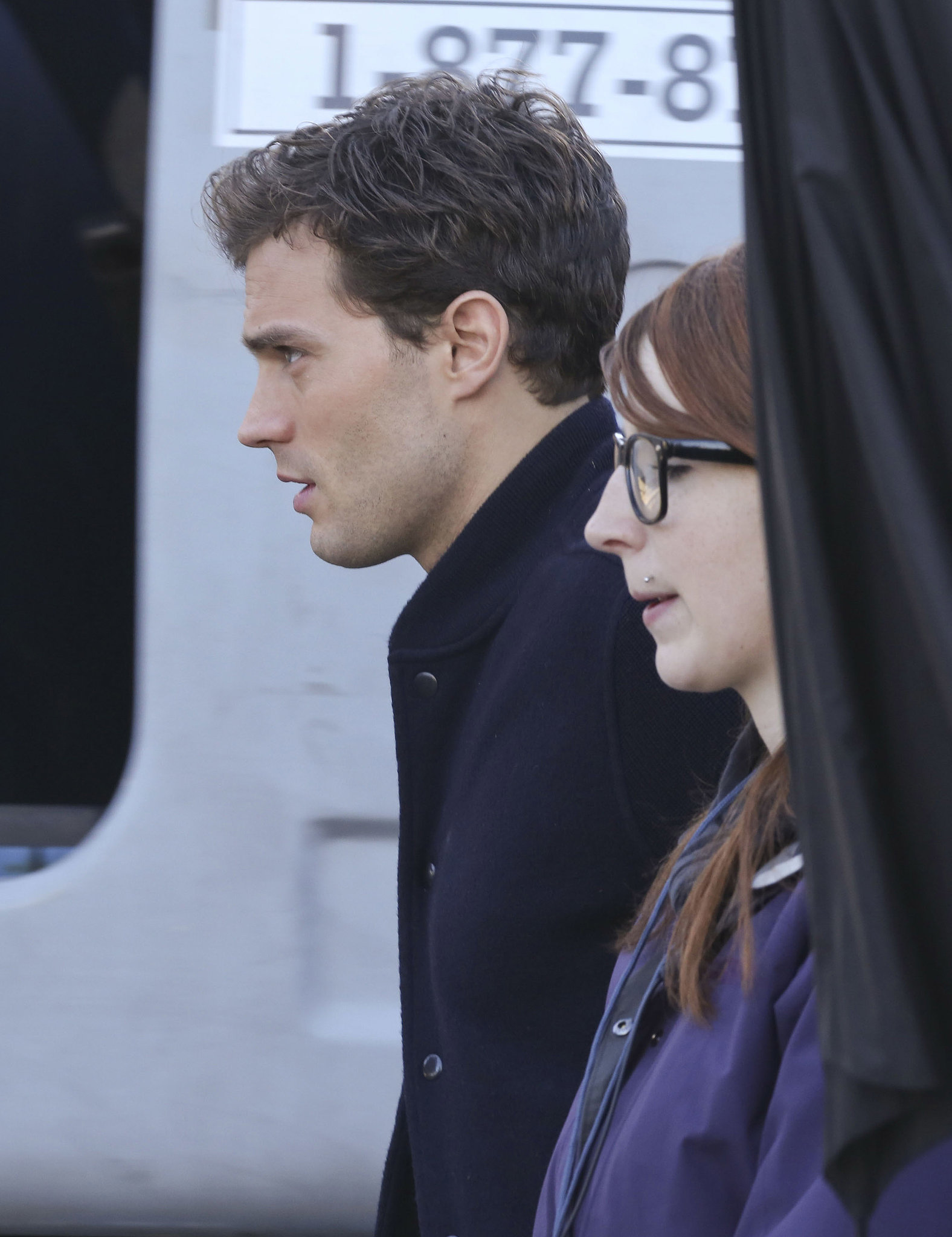 Jamie dornan was back on the set of the fifty shades of for Movie the fifty shades of grey