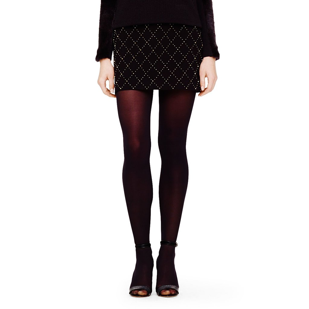 Is Club Monaco's quilted skirt ($199) the perfect Winter mini with its studded lattice and high-contrast hint of sparkle? I'd say so (especially when paired with a s