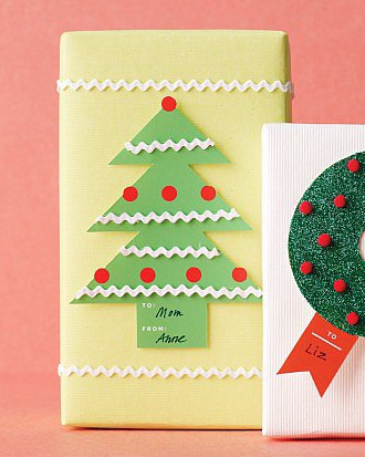 Christmas Tree Rickrack Gift Tags