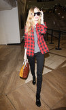 How is it that Bosworth looks just as good in a gown as she does in a buffalo-plaid shirt and jeans? She was spotted in this outfit in LA in mid-December 2013.
