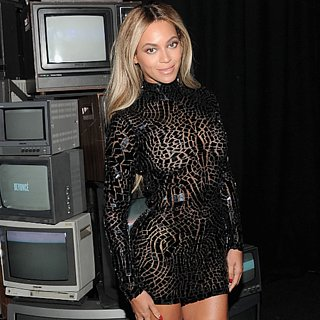 Beyonce in Black Dress at Album Release Party