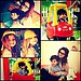 Ariel Winter posted a collage of her own modern family moments. 