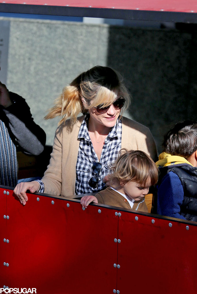 Selma Blair and her son, Arthur Bleick, spent the day at the farmers market in LA.
