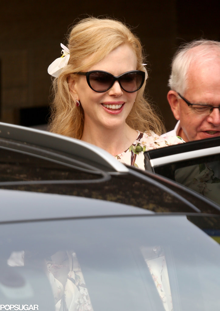 Nicole Kidman had a big grin after the celebration.
