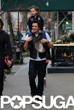Orlando Bloom bonded with his son, Flynn, during their Sunday walk.