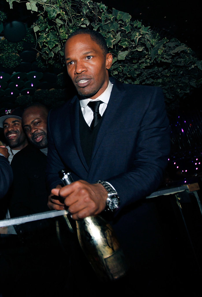 Jamie Foxx popped bottles during his NYC birthday celebration in December 2012.