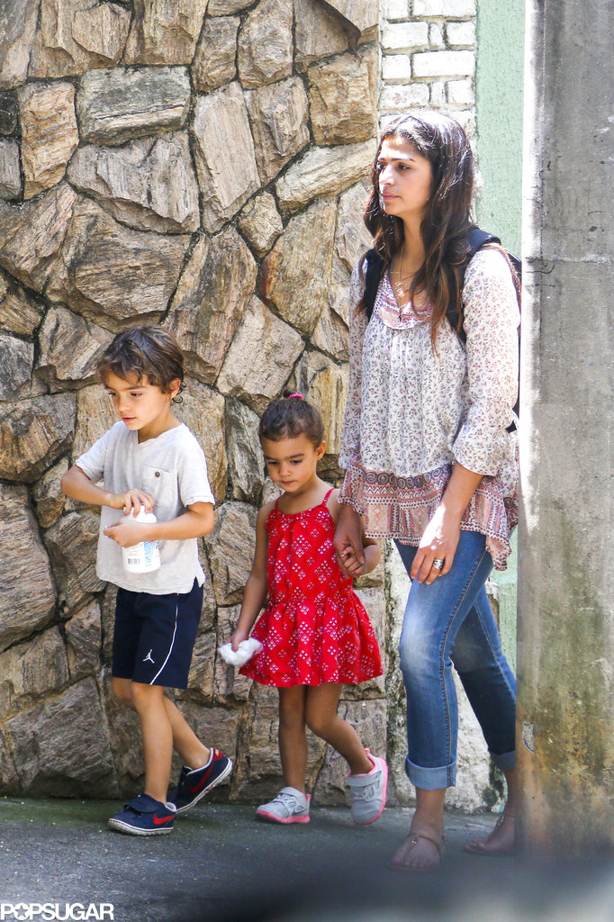 Camila Alves walked around with Levi and Vida McConaughey.