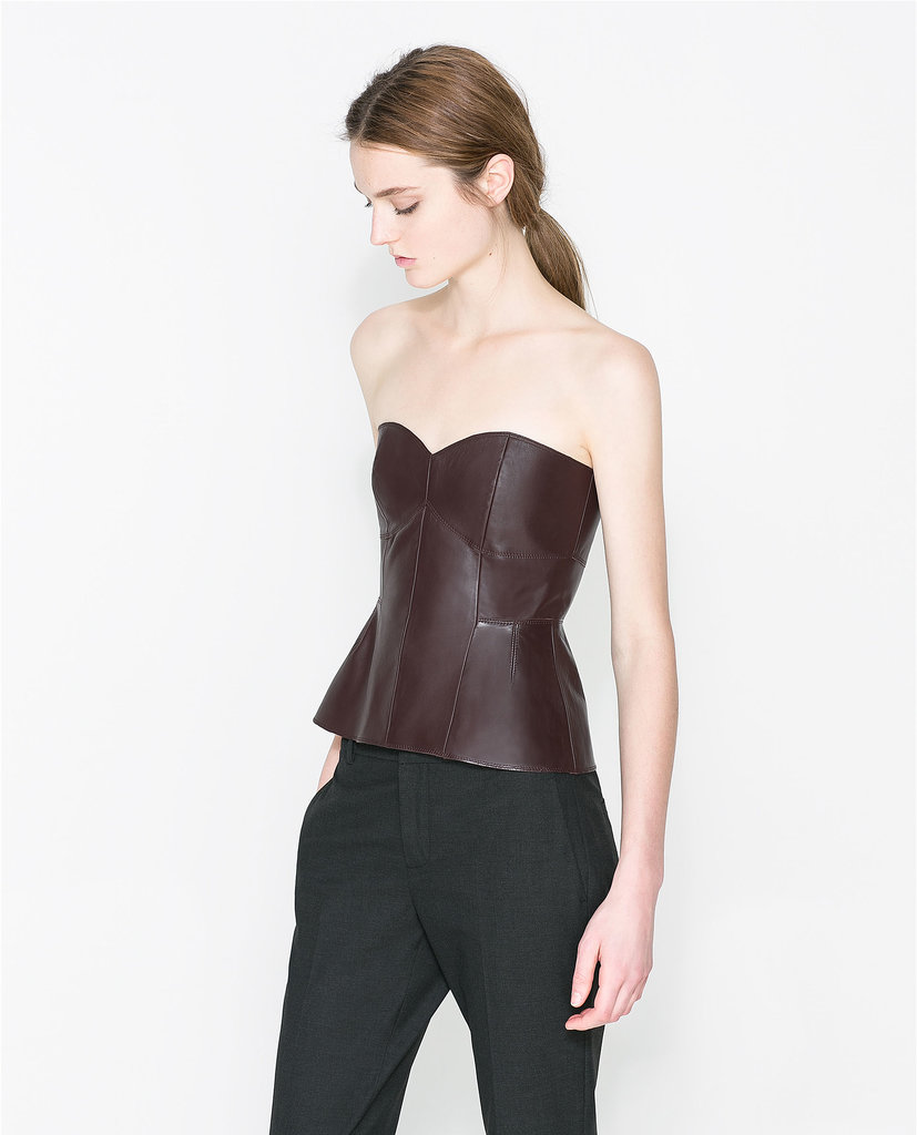 Zara Leather Bustier ($70, originally $119)